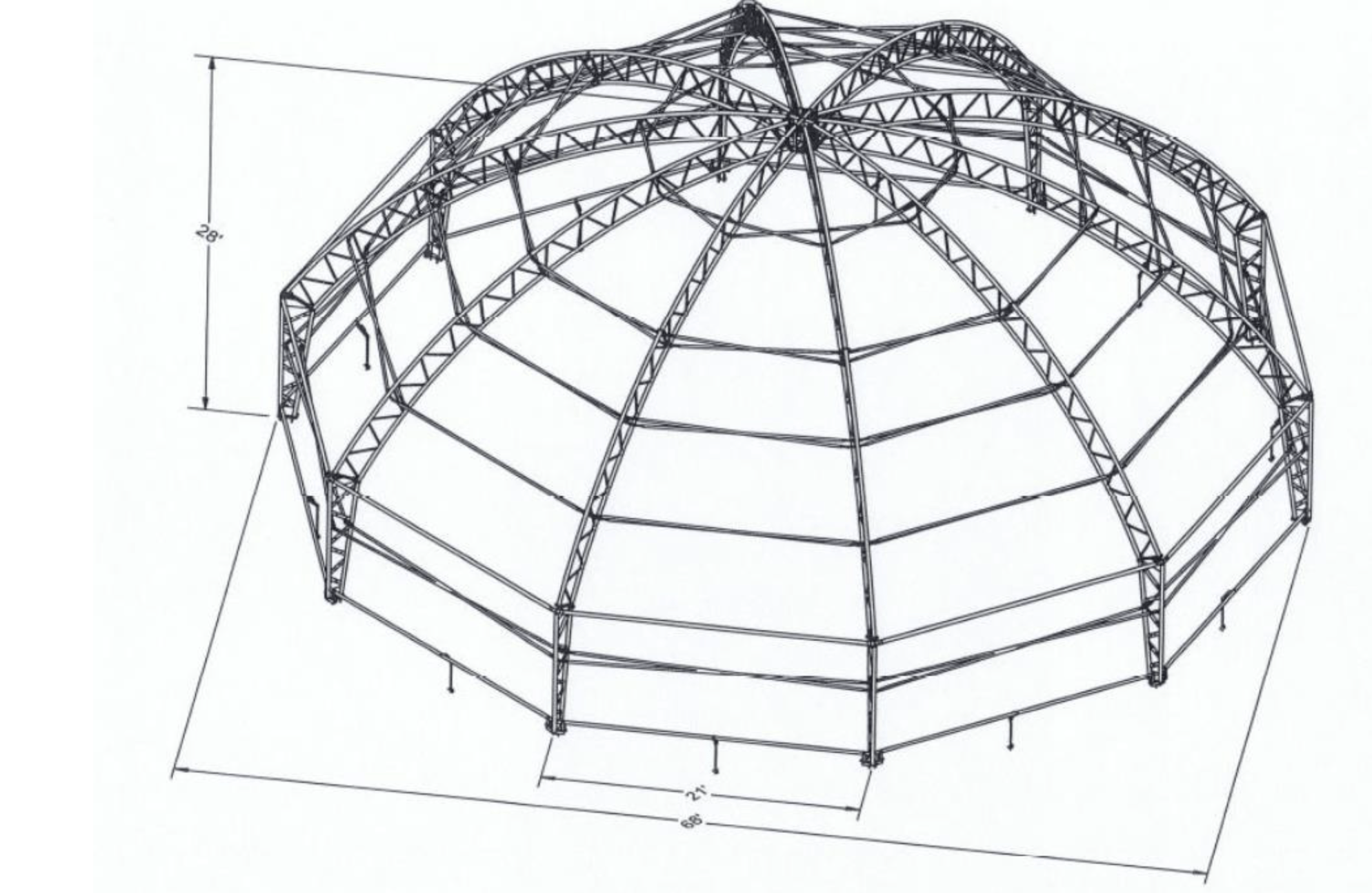 68' Riding Arena structural diagram
